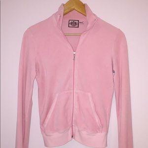 Juicy Couture Baby Pink Terry Zip Up Jacket